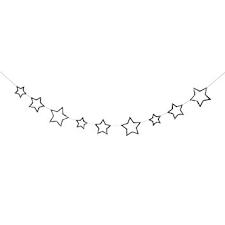 Glitter Star Girlande Silber von Meri Meri