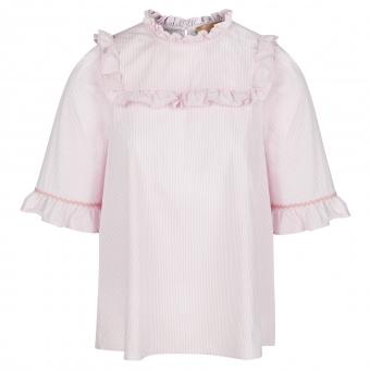 Bluse Streifen Rosa/Weiß von La Camicia