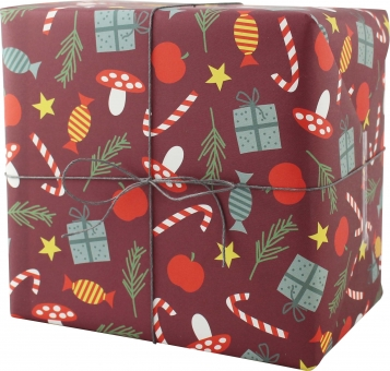 Geschenkpapier Zuckerstangen(3Bögem)