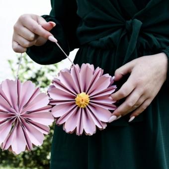 Papierblume Pink