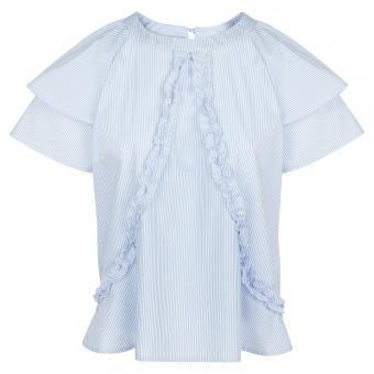 Bluse Streifen Blau/Weiß von La Camicia