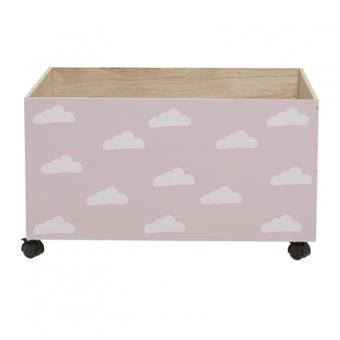 Spielzeugbox Rosa mit Wolken von Bloomingville Mini