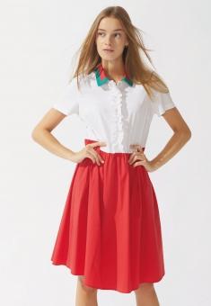 La Camicia Kleid rot/weiß