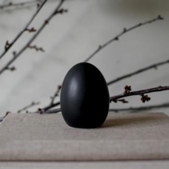 Ei Keramik schwarz Large