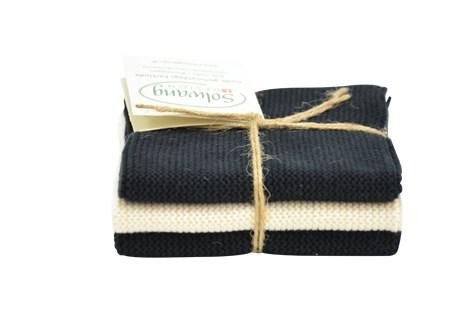 Wischlappen schwarz/creme von Solwang Design