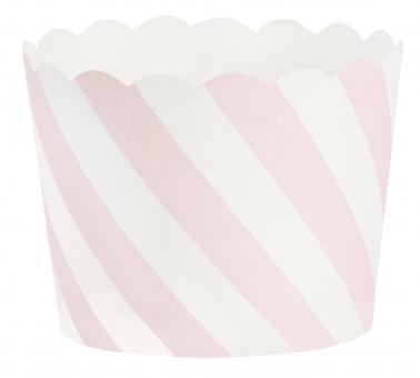 Papierförmchen rosa Streifen Miss Ètoile