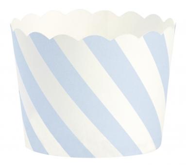 Papierförmchen blaue Streifen Miss Ètoile