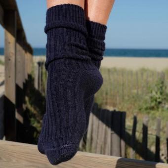 Socken Wolle Navy von Wayda