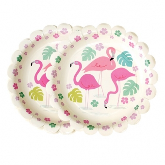 Pappteller Flamingo Bay (8er Packung)
