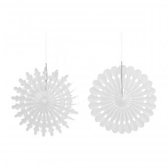 4er Set Ornamente Weiß von House Doctor