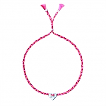 "Silver Bracelet Charm ""Love"""