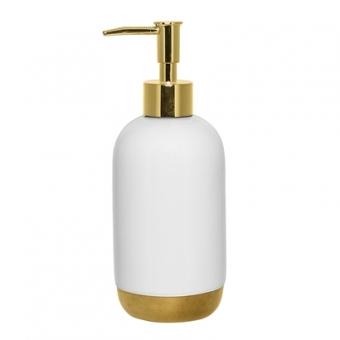 Seifenspender weiß /Gold von Bloomingville