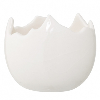Übertopf Keramik Ei von Bloomingville