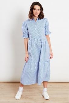 Kleid Streifen Blau weiß S