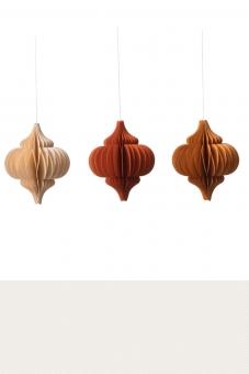 3 Stück Paper Drops Large Orange von Bungalow DK