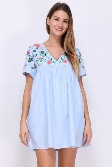Kleid  mit Blüten M/L