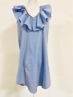 Kleid Vichy Blau von La Ritz