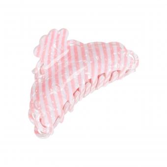 Hair Claw Stripe von Pico Babypink/white