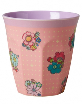 Rice Melamin Becher Flower