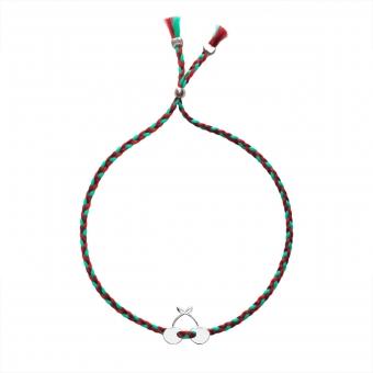 "Silver Bracelet Charm ""Cherries"""