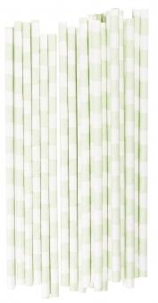 Strohhalme grüne Streifen Miss Ètoile