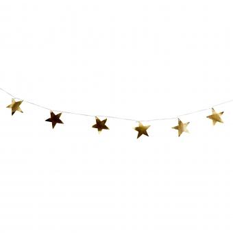 Girlande aus Metall Sternen von TineKHome Gold
