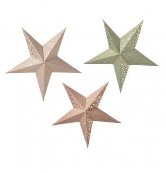 3er Set Sterne von Bungalow DK