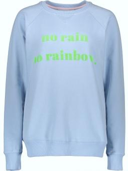 "Sweater ""No Rain no Rainbow"" Blue"