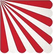 Servietten mit Streifen Rot von Meri Meri