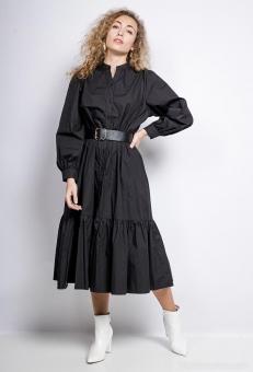 Long Dress Rosé schwarz
