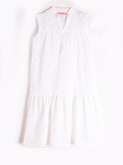 Kleid Vera Weiß mit Lochmuster