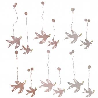 4er SetPaper Birds von Bungalow DK Rosé
