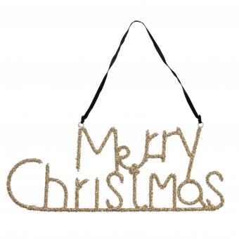 """Glitzer Schriftzug """"Merry Christmas"""" von Bungalow"""