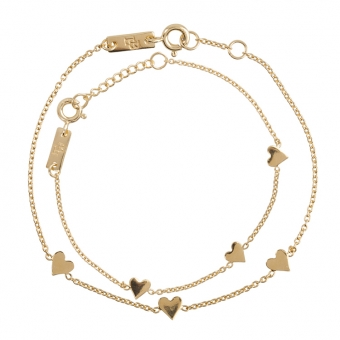 """""""You are Loved"""" Mutter & Tochter Armband Gold"""