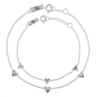 """You are Loved"" Mutter & Tochter Armband Silber"