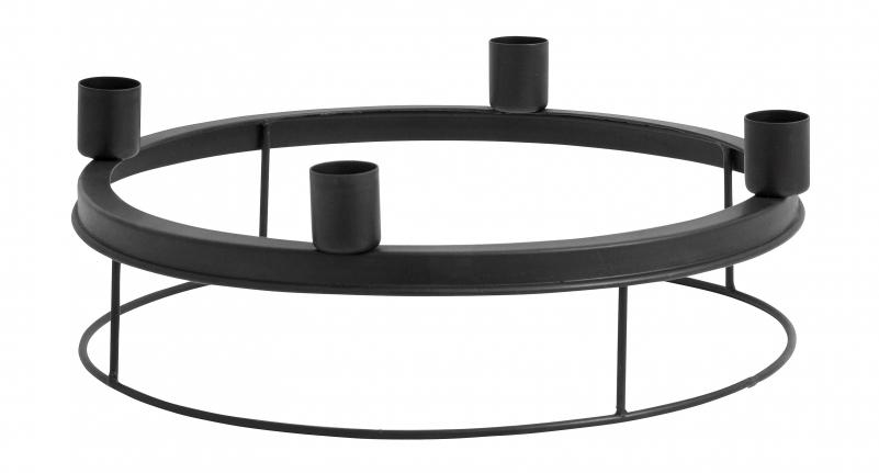 adventskranz metall schwarz von nordal online kaufen. Black Bedroom Furniture Sets. Home Design Ideas