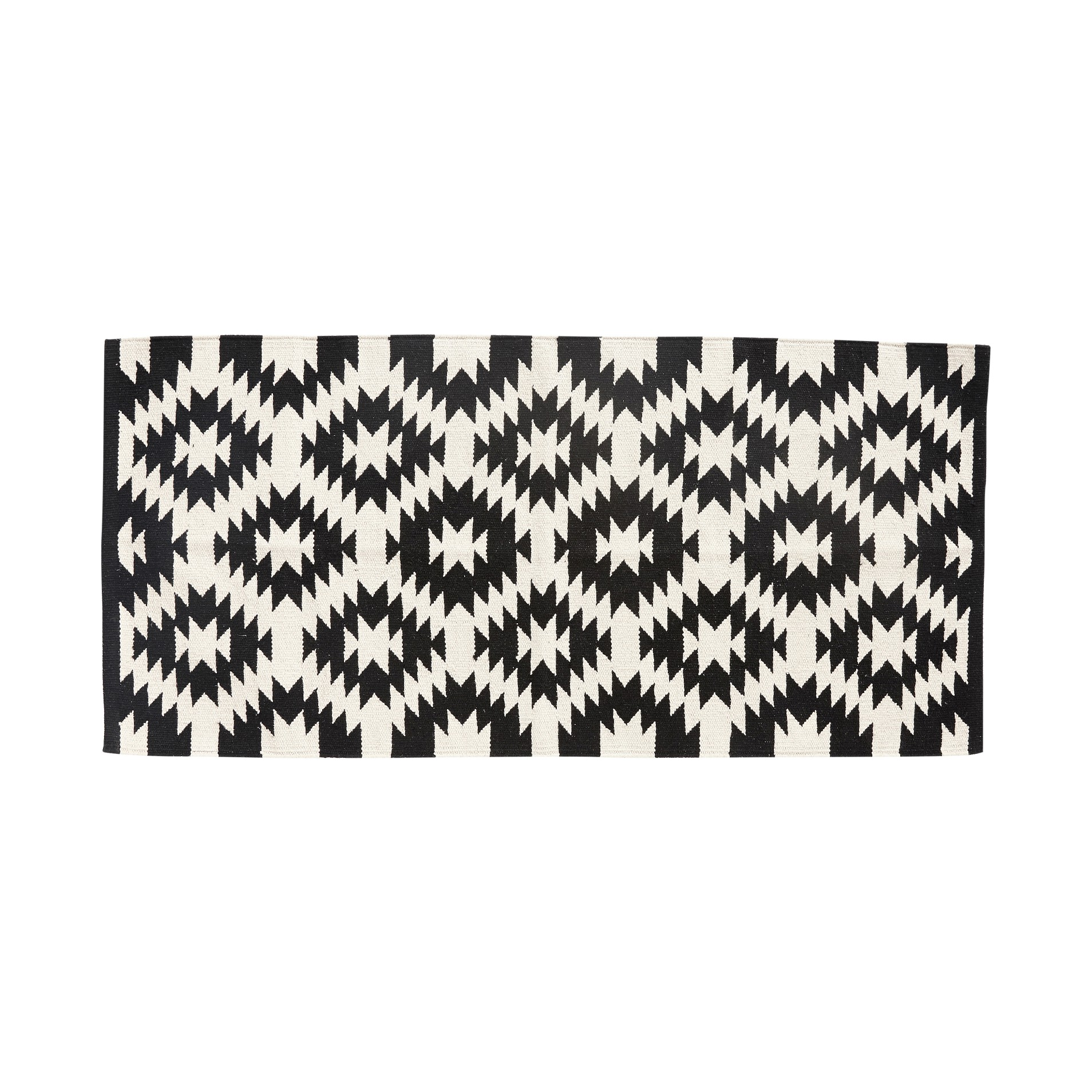 Baumwoll Teppich Gewebt teppich gewebt baumwolle schwarz weiß hübsch kaufen